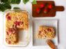 〚197カロリー〛混ぜるだけ!カッテージチーズ入りいちごのベイクドオートミール