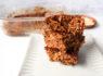 〚132カロリー〛ずっしり満足!オートミールでチョコ風味のバナナケーキ